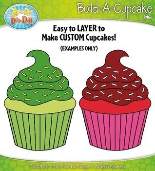 Build A Cupcake Clipart {Zip-A-Dee-Doo-Dah Designs}