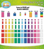Rainbow Building Block Fractions Clipart {Zip-A-Dee-Doo-Dah Designs}