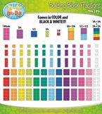 Rainbow Building Block Fractions Clipart {Zip-A-Dee-Doo-Dah Designs}