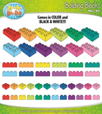Rainbow Building Blocks Clipart {Zip-A-Dee-Doo-Dah Designs}