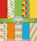 Rainbow Building Blocks Digital Scrapbook {Zip-A-Dee-Doo-Dah Designs}