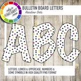 Bulletin Board Letters with colorful dots
