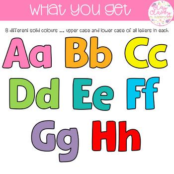 Rainbow Bulletin Board Letters