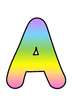 Rainbow Bulletin Board Letters, Numbers and Symbols