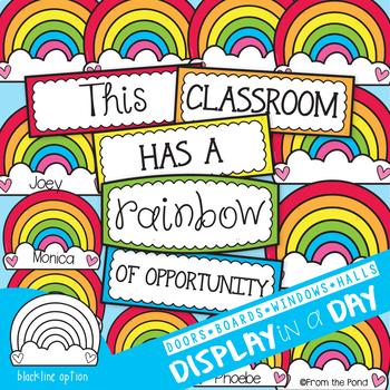 Rainbow Bulletin Board Set