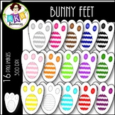Rainbow Bunny Feet ● Clip Art ● Products for TpT Sellers