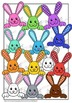 Rainbow Bunny  Frames  and Toppers .Digital Clipart.Clip for creativity.