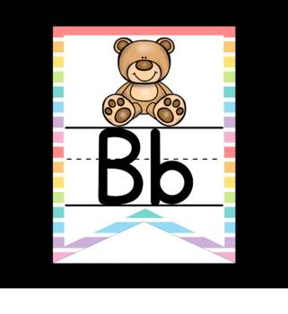 Rainbow Bunting ABC Line