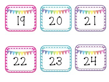Rainbow Bunting Calendar {year2tastic}