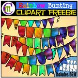 Rainbow Bunting Clipart FREEBIE