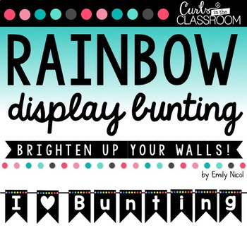 Rainbow Bunting Display