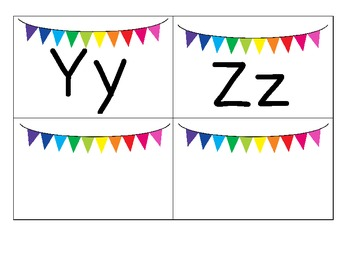 Rainbow Bunting themed Portable Word Wall with Dolch Sight Words