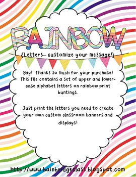 Rainbow Buntings- Customize Your Own Banner!