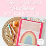 Rainbow Busy Binder | Toddler and Preschool Learning Activities