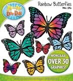 Rainbow Butterflies Clipart {Zip-A-Dee-Doo-Dah Designs}