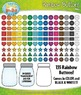 Rainbow Buttons Clip Art Set — Over 135 Graphics!