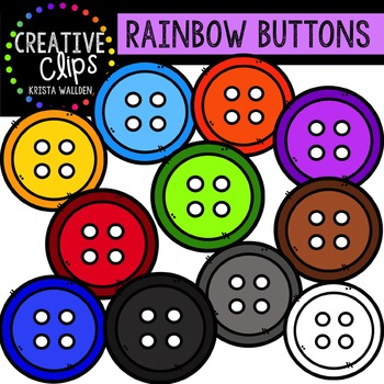 Rainbow Buttons {Creative Clips Digital Clipart}