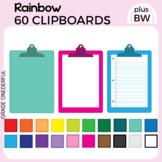 Rainbow CLIPBOARDS Clip Art