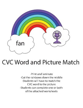 Rainbow CVC and picture match