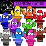 Rainbow Cactus Clipart {Creative Clips Clipart}