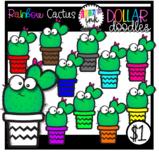 Rainbow Cactus Clipart (Erin's Ink Clipart)