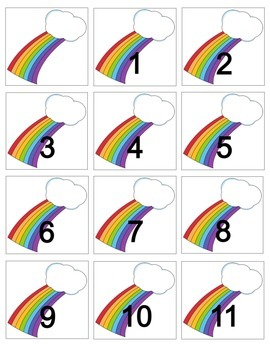 Rainbow Calendar Cards
