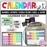 Rainbow Calendar Number Set