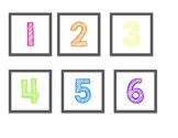 Rainbow Numbers - For Calendar, Cubbies, Desk Numbers, and more!