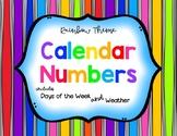 Rainbow Calendar Numbers