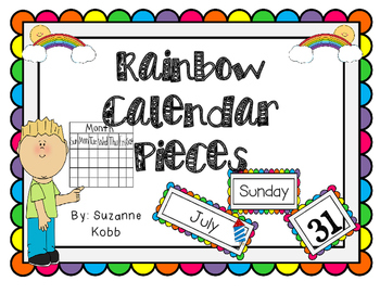 Rainbow Calendar Pieces