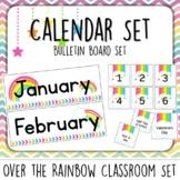 Rainbow Calendar Set. Bulletin Board.  Months, Days, Holid