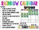 Rainbow Classroom Calendar *W/10 FRAMES FOR THE ENTIRE YEAR*
