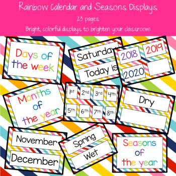 Rainbow Calendar and Seasons Displays
