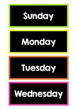 Rainbow Calendar (dark)