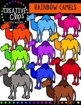 Rainbow Camels {Creative Clips Digital Clipart}