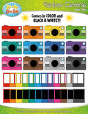 Rainbow Polaroid Camera Clipart {Zip-A-Dee-Doo-Dah Designs}