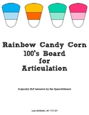 Rainbow Candy Corn 100's Board for Articulation