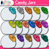Candy Jar Clip Art {Rainbow Glitter Containers for Countin