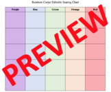 Rainbow Carpet Editable Seating Chart (Microsoft Word)