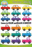 Rainbow Vehicles (Cars & Trucks) Clipart {Zip-A-Dee-Doo-Dah Designs}
