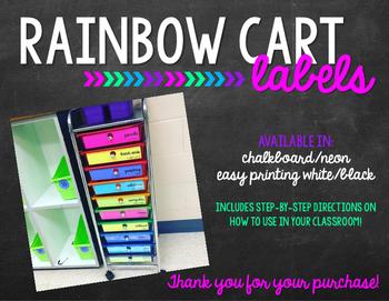 Rainbow Cart Labels