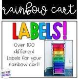 Rainbow Cart Labels