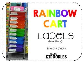 Black Rainbow Cart Labels