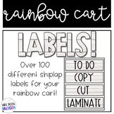 Rainbow Cart Labels Shiplap