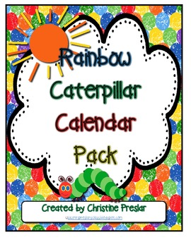 Rainbow Caterpillar Calendar Pack