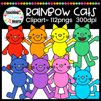 Rainbow Cats Clipart