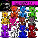 Rainbow Cat Clipart {Creative Clips Clipart}