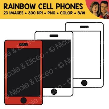 Rainbow Cell Phone Clipart