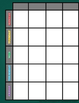 Rainbow Chalk Teacher Binder/ Lesson Plan Template- EDITABLE
