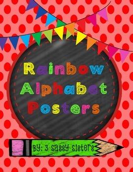 Rainbow/ Chalkboard Alphabet Wall